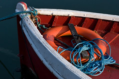 anchor (Ali's view) Tags: blue red boat 85mm rope anchor d90