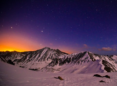 Colors of a Colorado Overnight (Mike Berenson - Colorado Captures) Tags: mountain snow mountains nature night dark colorado hike alpine rockymountains fourteener cupid allrightsreserved lovelandpass lightpollution grizzlypeak grayspeak torreyspeak coloradocaptures mikeberenson copyright2011bymikeberenson