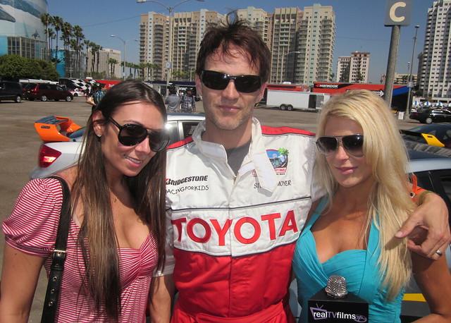 MaryAnne Siena, Stephen Moyer, Jennifer Lexon, Toyota Grand Prix Celebrity Race 2011
