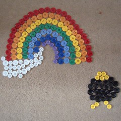Rainbow & Crock of Gold Button Picture