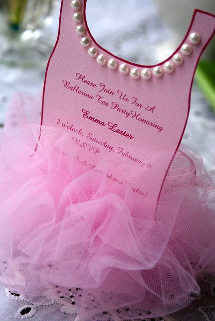 Ballerina Invitation 013-1