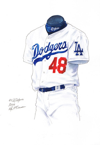 los angeles dodgers uniform. LA Dodgers 2004 uniform