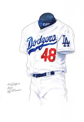 los angeles dodgers uniform. LA Dodgers 2004 uniform