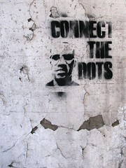 Connect the Dots (silverfuture) Tags: streetart underpass graffiti stencil spraypaint peelingpaint chipped cracked albanypark connectthedots northmayfair