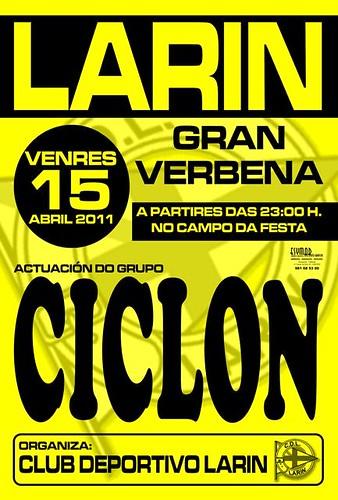 Arteixo 2011 - Verbena en Larín - cartel
