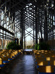 Inside Thorncrown Chapel (bluerim) Tags: arkansas 1980 ozarks eurekasprings efayjones aiaaward beaverdamak