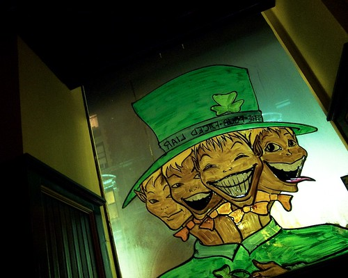 St. Patrick's Day Display at the Four-Faced Liar
