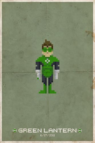 Green Lantern Pixel Poster