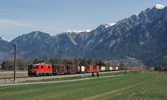 Ilanz Freight (Don Gatehouse) Tags: schweiz switzerland suisse svizzera freight rhb 629 tiefencastel rhätischebahn felsberg eisenbahnen landquart ilanz 5237 metregauge classge44