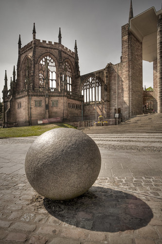 270/1000 - Outside Coventry Cathedral 1