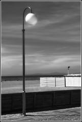 Il mare d' Inverno I (carlo tardani) Tags: blackandwhite bw mare toscana inverno spiaggia lampione ilmaredinverno bagni stabilimentobalneare marinadigrosseto nikond300 mygearandme biamncoenero