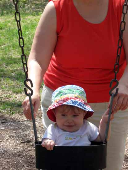 Swinging for First Time