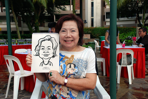 caricature live sketching for birthday party 16042011 - 5