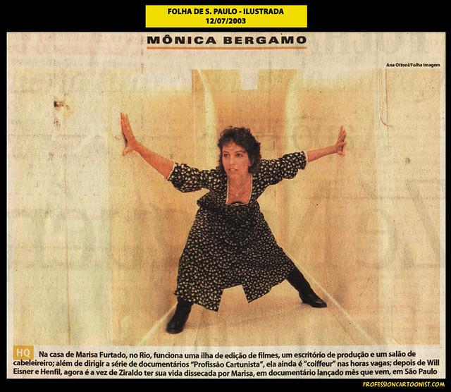 """""""Na casa de Marisa Furtado"""" - Folha de São Paulo - 12/07/2003"""