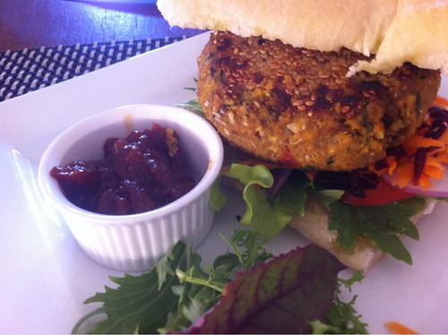 Burger at the swan valley cafe