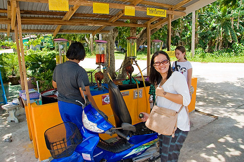 Getting gasoline at Koh Yao Noi