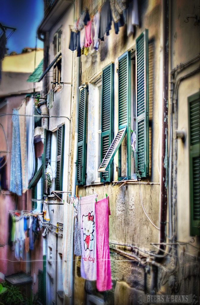 Drying Laundry - Cinque Terra, Italy (HDR)