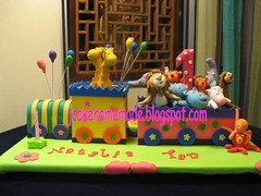 Animals train birthday cake (Jcakehomemade) Tags: horse elephant rabbit monkey tiger lion octopus giraffe hippos traincake 1stbirthdaycake funcake animalscake childrensbirthdaycake partycake noveltycake celebrationcake custommadecake kidbirthdaycake circustraincake jcakehomemadeblogspotcom jessicalaw animalstrainbirthdaycake nataliatansbirthdaycake