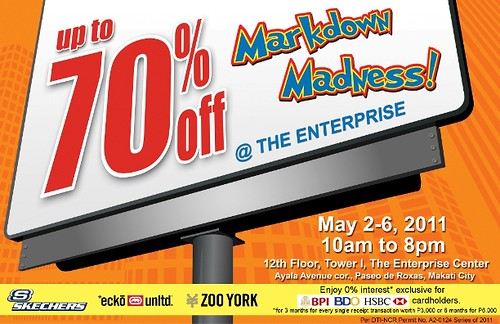 Markdown Madness Enterprise May 2011