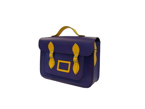 Cambridge Satchel in Purple and Yellow