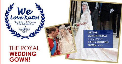 Copy of royal wedding gown available in China 2 hours after the wedding