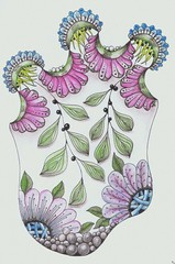 eden coloured (Jo in NZ) Tags: drawing doodle zentangle nzjo