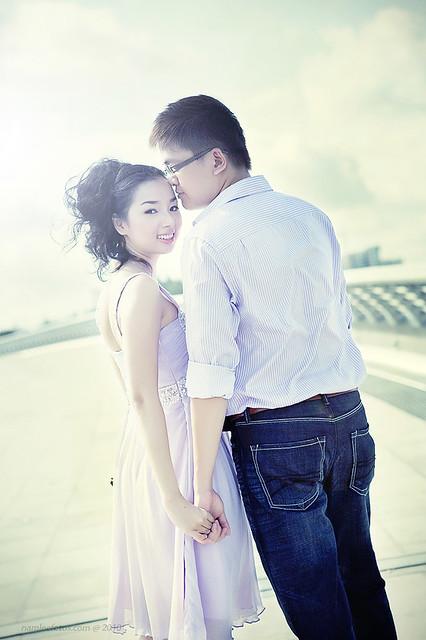 chụp hình cưới ngoại cảnh Laura Lai - Leon Nguyen