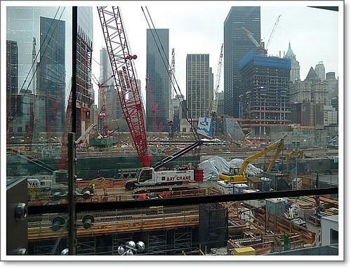 Blick auf die Baustelle ...