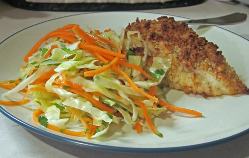 buttermilk baked chicken + carrot slaw