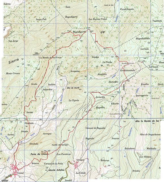 Ruta Unzué - Alaiz - Santa Cruz - Peña Unzué - Unzué