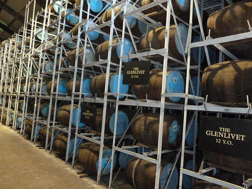 Maturing Whisky at Glenlivet Distillery