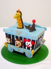 Beginner/Intermediate Novelty - Circus Train (Handi's Cakes) Tags: cake ganache sydney australia decorating figure modelling courses classes fondant handi sharpedges sugarpaste handimulyana handiscakes