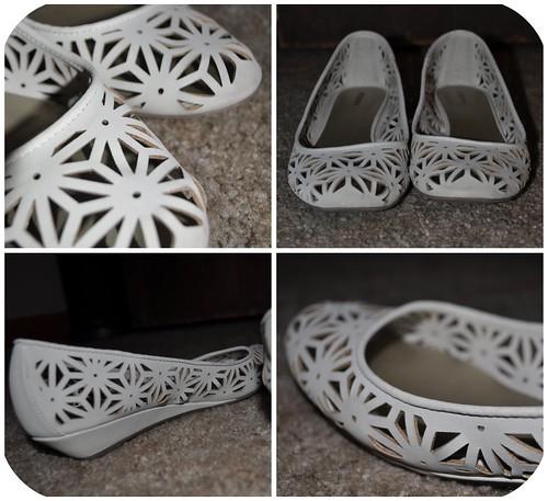 White Lace Flats