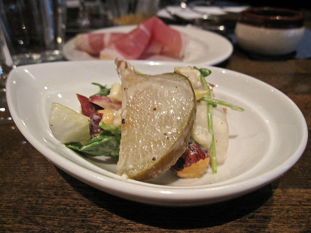 Endive & Pear Salad with Bleu cheese dressing
