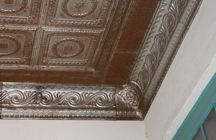 Hammered Tin Ceiling