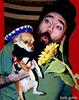 Happy Cinco de Mayo! (faith goble) Tags: red musician dog chihuahua man cute art hat festive beard mexico fun funny kentucky ky faith young handsome tattoos greeneyes cc mexican creativecommons sunflower expressive rug sombrero pup teacup poncho bowlinggreen blase 2012 fifth may5th serape freetouse goble firsthand faithgoble patrickgoble gographix faithgobleart thisisky