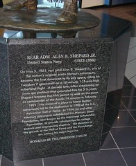 ALAN SHEPARD - FREEDOM 7 / HALL OF FAME