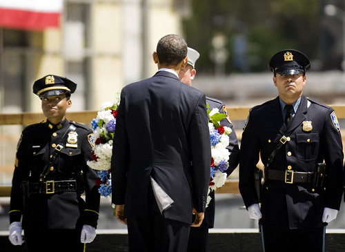 President Obama Lays Wreathe at Ground Zero