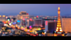 sin city bokeh (laughlinc) Tags: city urban paris skyline lights cosmopolitan lasvegas bokeh dusk flamingo eiffeltower strip thestrip nikond80 thechallengefactory laughlinc