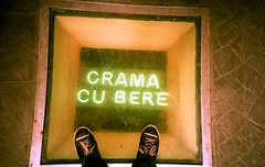Crama cu Bere (GTZ*) Tags: feet beer iso200 xpro crossprocessed shoes lomolca romania crossprocessing bucharest lomographyxpro200 cramacubere