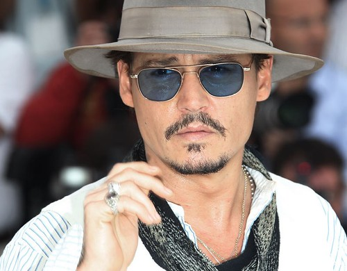 Johnny Depp fashion sunglasses at Cannes