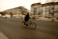 Just another panning shot [explored] (Nick-K (Nikos Koutoulas)) Tags: road girl bicycle nikon nikos panning f4 nickk 1635mm  d700   koutoulas  dwcffpanning