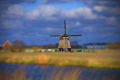 Windmill (a.penny) Tags: baby holland mill lensbaby lens moulin lumix vent mühle miniature à fake shift mini tilt niederlande windmühle apenny tilshift tiltshift12 lx2 nordholland
