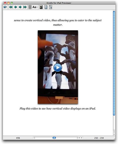 Kindle for iPad Previewer