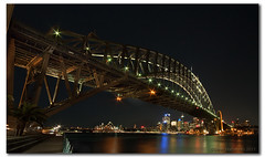 The Old Coat Hanger - Sydney Harbour Bridge (danishpm) Tags: city night canon harbour sydney australia wideangle nsw aussie operahouse aus 1020mm harbourbridge manfrotto kirribilli sigmalens eos450d 450d sorenmartensen