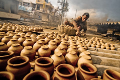 Pottery town [explored] (Sonic photos) Tags: town bangalore streetlife clay pottery bengaluru canon50d tokina1116mm