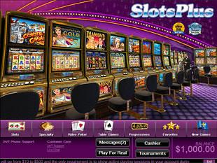 Slots Plus Casino Lobby
