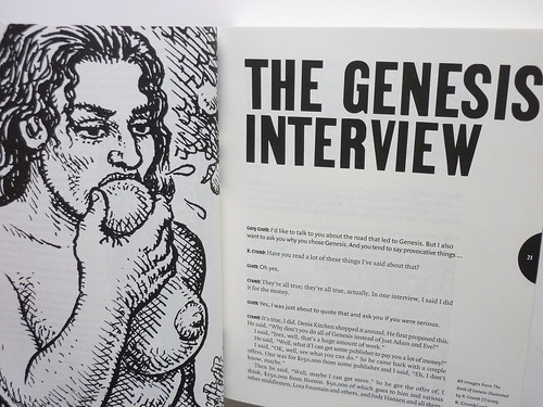 The Comics Journal #301 - Crumb interview detail
