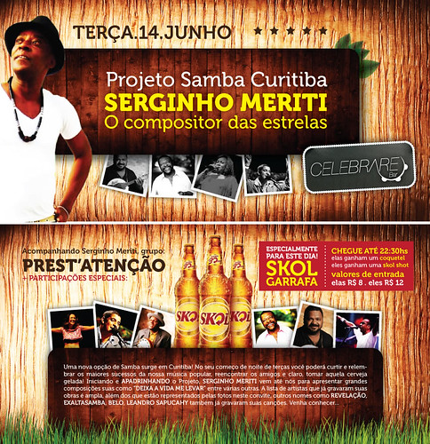 Flyer Serginho Meriti - Celebrare by chambe.com.br