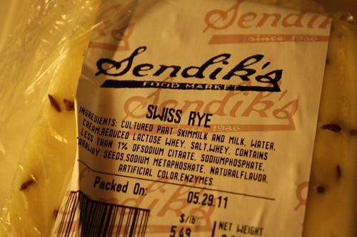 Sendik's swiss rye cheese